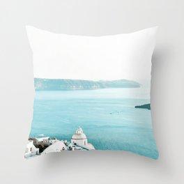 Greece Thera View Throw Pillow