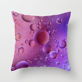 Pink bubbles Throw Pillow