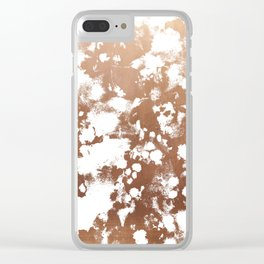 Rose Gold shiny metal sparkle modern pattern abstract rosegold trendy pattern cell phone accessories Clear iPhone Case