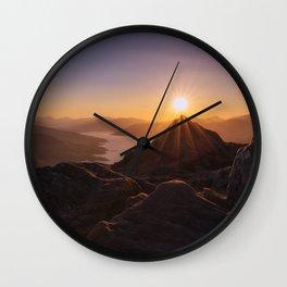 Sun Over Mountain Wall Clock