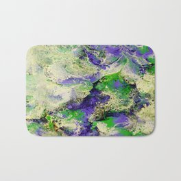 Pansies in Cream Bath Mat