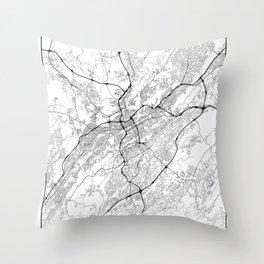 Minimal City Maps - Map Of Birmingham, Alabama, United States Throw Pillow