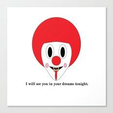 Clown #1 Canvas Print
