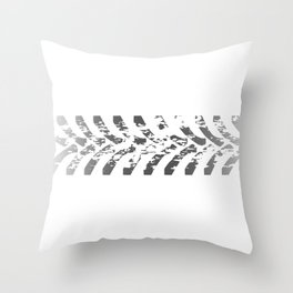 Tractor Tyre Marks Throw Pillow