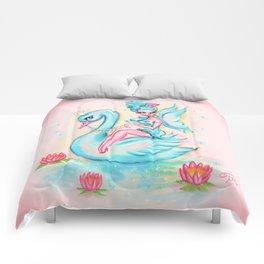 Blue Swan Fairy Comforters