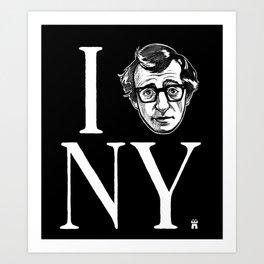 I (Woody) NY Art Print