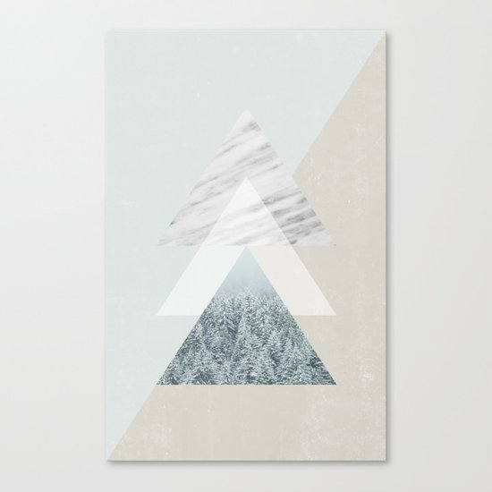 Snow into the forest Canvas Print