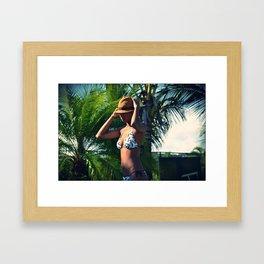 PANAMA GIRL Framed Art Print