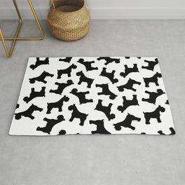 Schnauzer - Simple Dog Silhouette Rug
