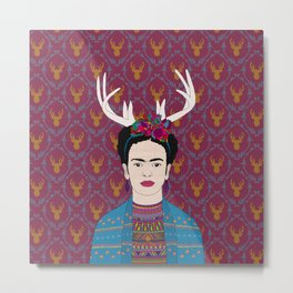DEER FRIDA Metal Print