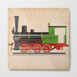 Locomotive Max Metal Print