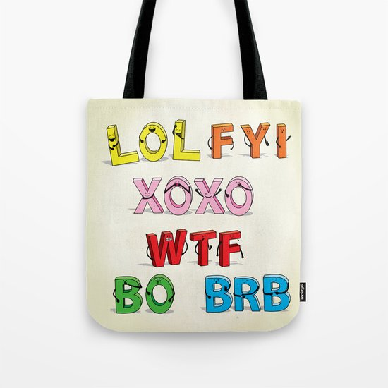 Some Internet Abreviations Tote Bag