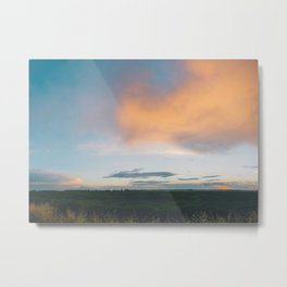 Sunset over Edmonton III Metal Print