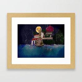Full Moon Castle Framed Art Print