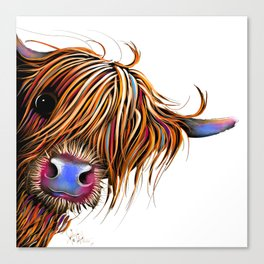 HiGHLaND CoW PRiNT SCoTTiSH ' SuGaR LuMP ' BY SHiRLeY MacARTHuR Canvas Print