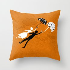 I love you let's fly Throw Pillow