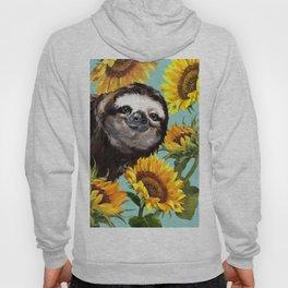 Sloth with Sunflowers Hoody