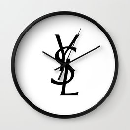 YSL logo Wall Clock