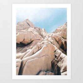 Lovers Beach Rocks Art Print