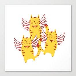 Angel cat furniture Design by diegoramonart Canvas Print