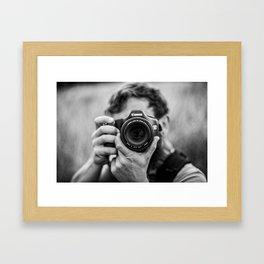 Into The Lens Framed Art Print