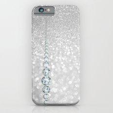 Diamonds are girls best friends III- Silver elegant glitter effect iPhone 6 Slim Case