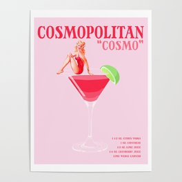The Cosmopolitan Cocktail Poster