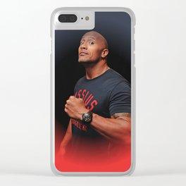Dwayne Johnson - The Rock - Oil Paint Art Clear iPhone Case