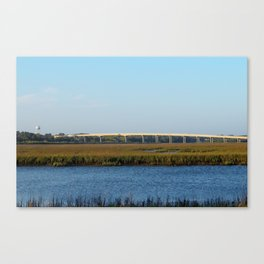 Bridge View From The Island Canvas Print