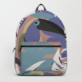 TOUCAN AND LEAVES Backpack