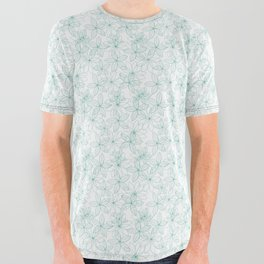 Floral Freeze White All Over Graphic Tee