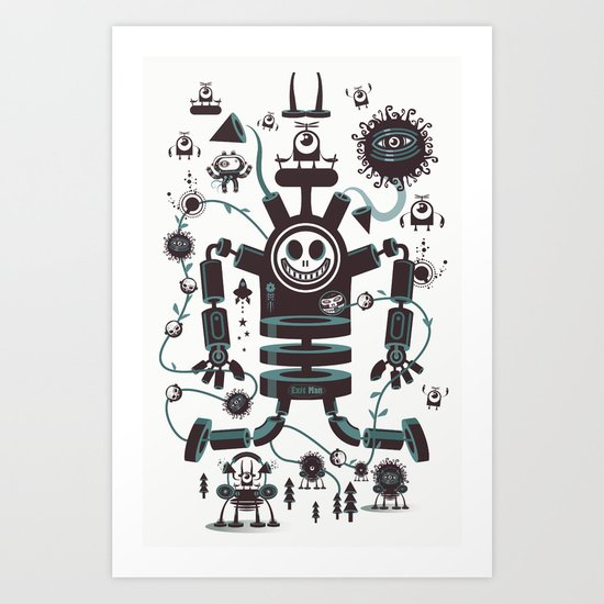 The Magic Garland Art Print