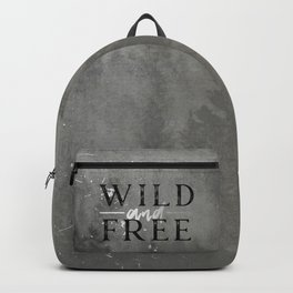 Wild and Free Silver Concrete Backpack