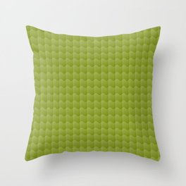 Olive Green Smooth Ripples Throw Pillow
