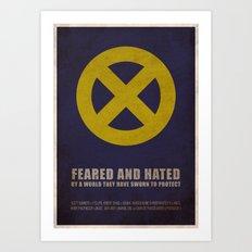 X-Men (Super Minimalist series) Art Print