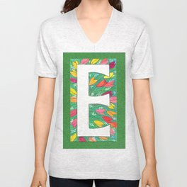 E is for Eloise, Ellen, Elly, Elizabeth-- and Even Edward Unisex V-Neck