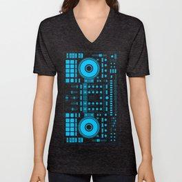 DJ Blue Unisex V-Neck
