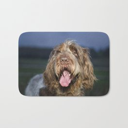 Brown Roan Italian Spinone Dog Head Shot Bath Mat