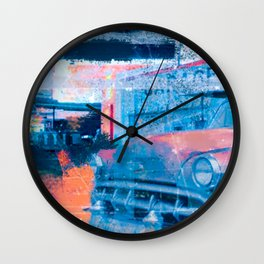 MOTEL AMERICANA - An illustrated road movie Wall Clock