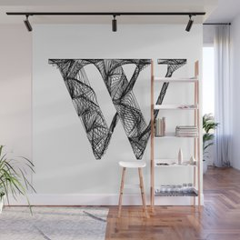''City Collection'' - Minimal Letter W Print Wall Mural