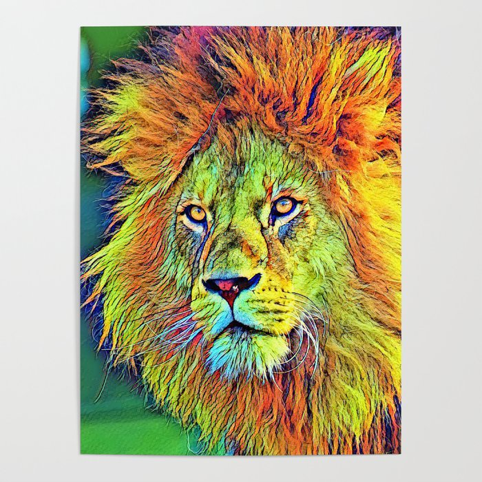 AnimalColor_Lion_009_by_JAMColors Poster