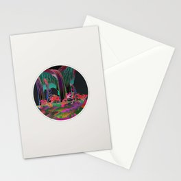 Reincarnation - Neon Waterfalls Stationery Cards