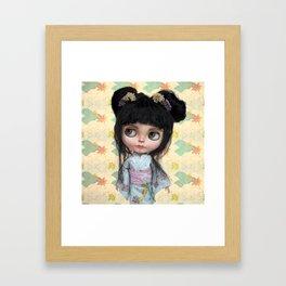 Kimono Girl by Erregiro Framed Art Print