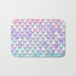 Cute Pretty Fun Girly Pattern, Ombre Pastel Pink, Purple, Teal Bath Mat