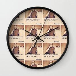 Charles Bukowski Quotes Wall Clock