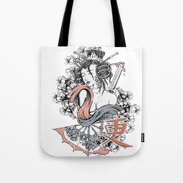 Samurai Geisha Sexy Japanese Girl Tote Bag