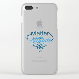 Attitude -Lettering Clear iPhone Case