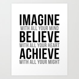 Imagine With All Your Mind, Office Wall Art, Office Art, Office Gifts Art Print