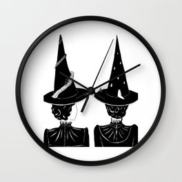 Two Witches Wall Clock