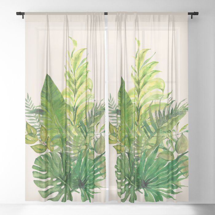 Leaves 1 Sheer Curtain